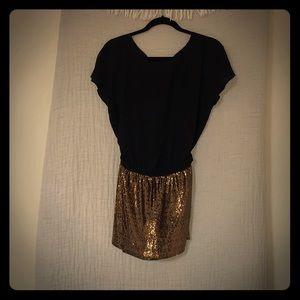 Never worn fully intact evening mini dress